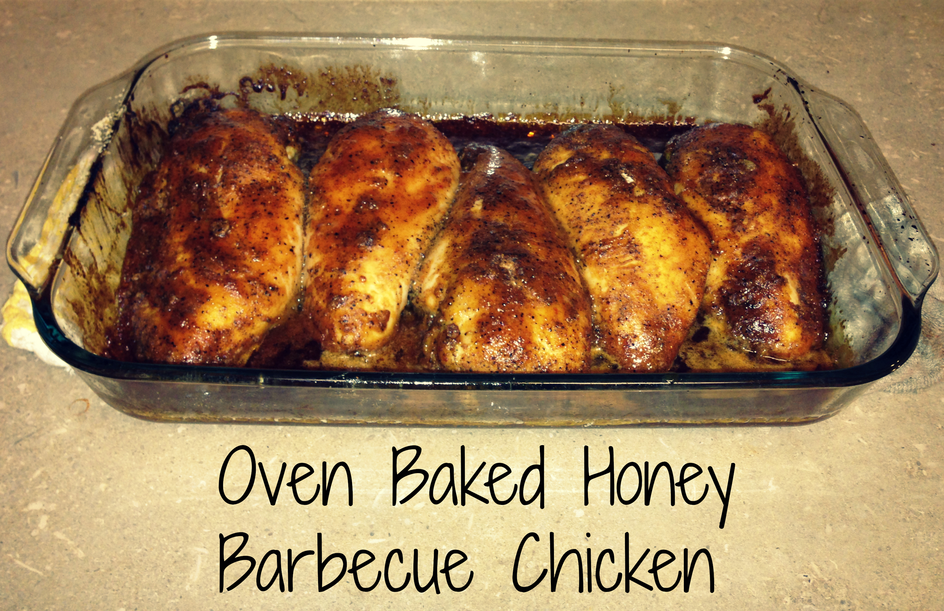 Barbeque baked chicken breast
